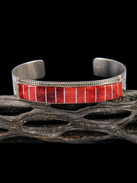 Native American Zuni Spiny Oyster Inlay Bracelet
