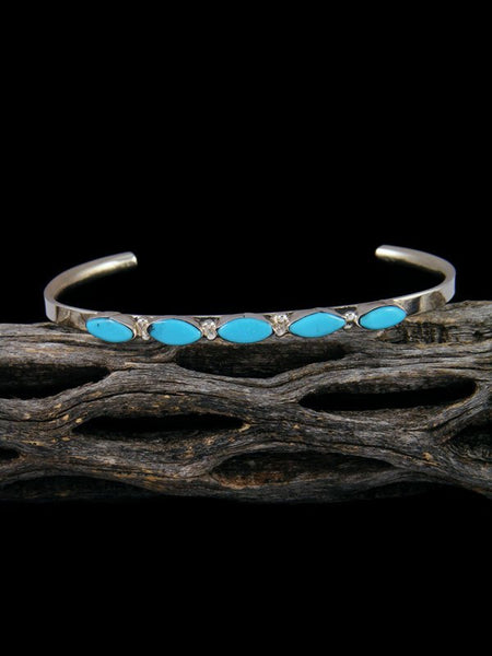 Sterling Silver Zuni Turquoise Cuff Bracelet
