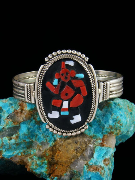 Native American Zuni Mudhead Inlay Cuff Bracelet