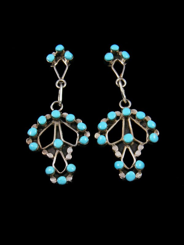 Native American Indian Jewelry Zuni Turquoise Earrings