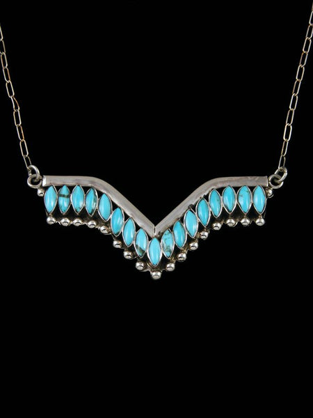 Native American Zuni Inlay Turquoise Necklace