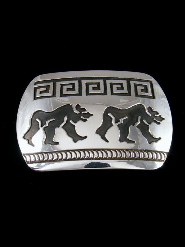 Native American Indian Jewelry Hand Crafted Sterling Silver Buckle