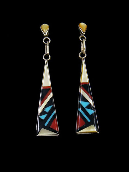 Sterling Silver Zuni Mother of Pearl Post Earrings