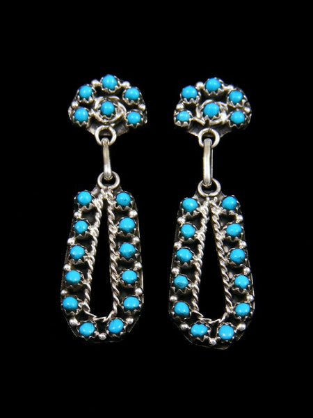 Native American Indian Jewelry Turquoise Zuni Earrings