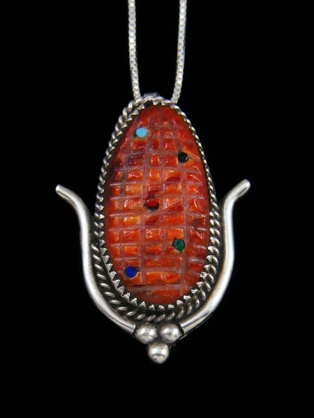 Native American Indian Jewelry Spiny Oyster Corn Zuni Pin/Pendant