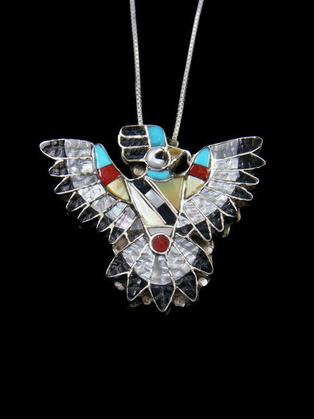 Mother of Pearl Zuni Eagle Dancer Pin/Pendant