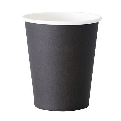 Plain Black Takeaway Cup