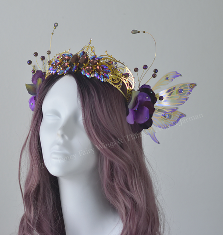 Amethyst Fairy Crown / Headdress with Aynia wings