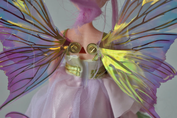 Aphrodite 5 inch Doll & Accessory Fairy Wings in Tea Rose with Brass Veins