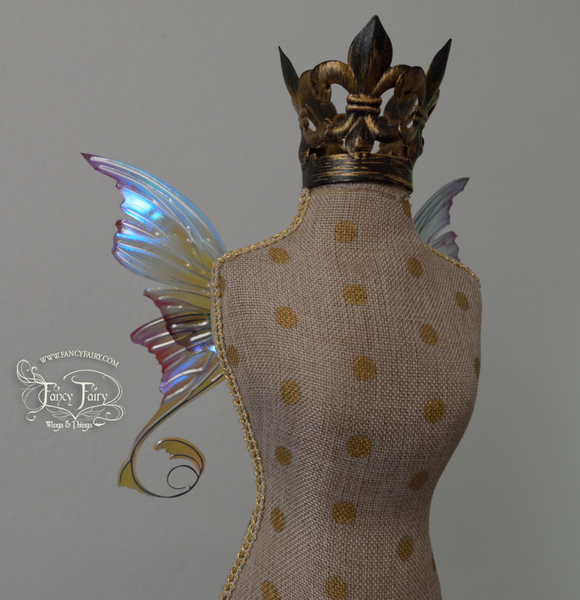 Aphrodite 3 and 1/2 inch Doll & Accessory Fairy Wings in Sea Foam with Nickel Silver Veins