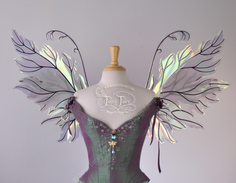 Acorn & Rowan Iridescent Fairy Wings combo in Patina Green with Black Veins