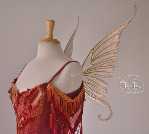 Amy Brown Ringmaster Iridescent Fairy Wings in Antique Copper with Gold Veins