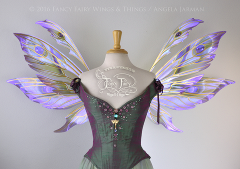 Aynia Iridescent Fairy Wings in Peacock