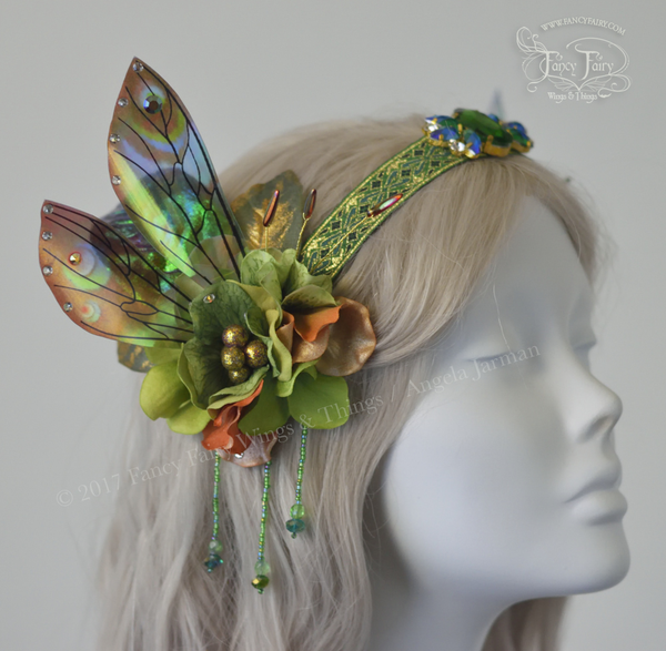 Green Earth Fairy Headdress with Ellette wings