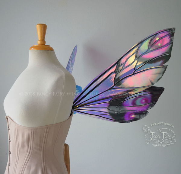 Ellette Painted Iridescent Fairy Wings in Unseelie Purple