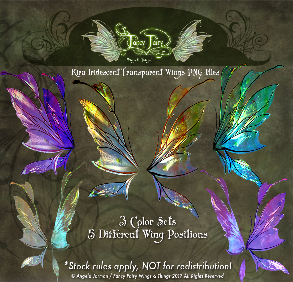 Kira Fairy Wings Transparency Stock PNG files