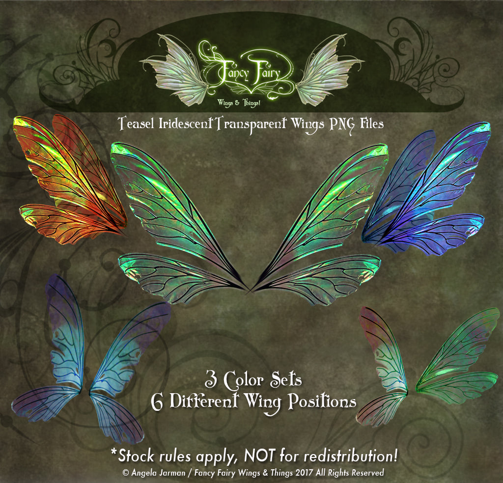 Teasel Fairy Wings Transparency Stock PNG files