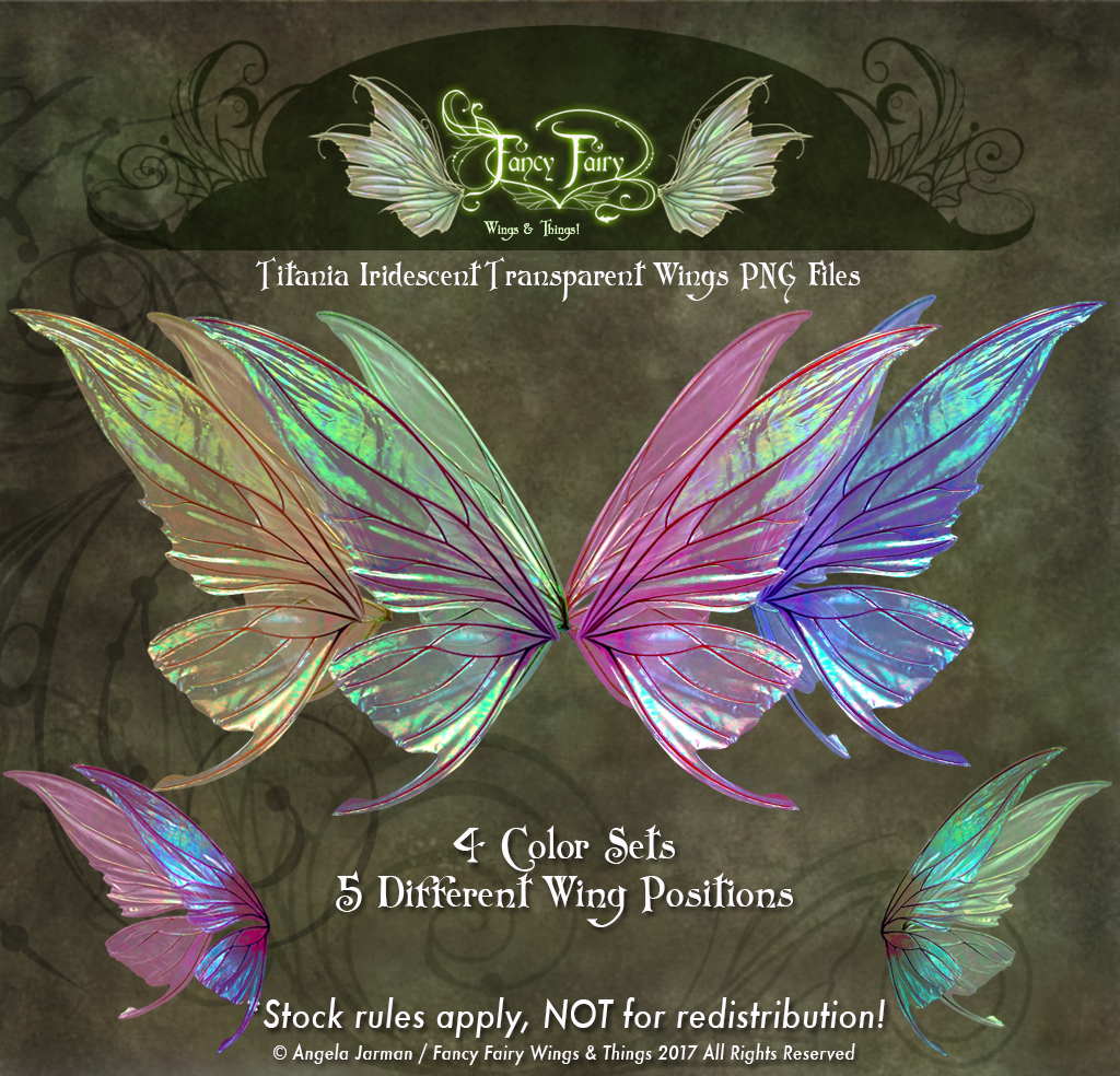 Titania Fairy Wings Transparency Stock PNG files