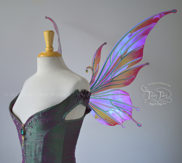 "Flora ""Pink Fuchsia"" Iridescent Flower Fairy Wings"
