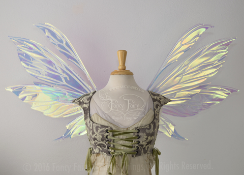 Aynia Iridescent Fairy Wings in Diamond Fire Iridescent with Pearl veins