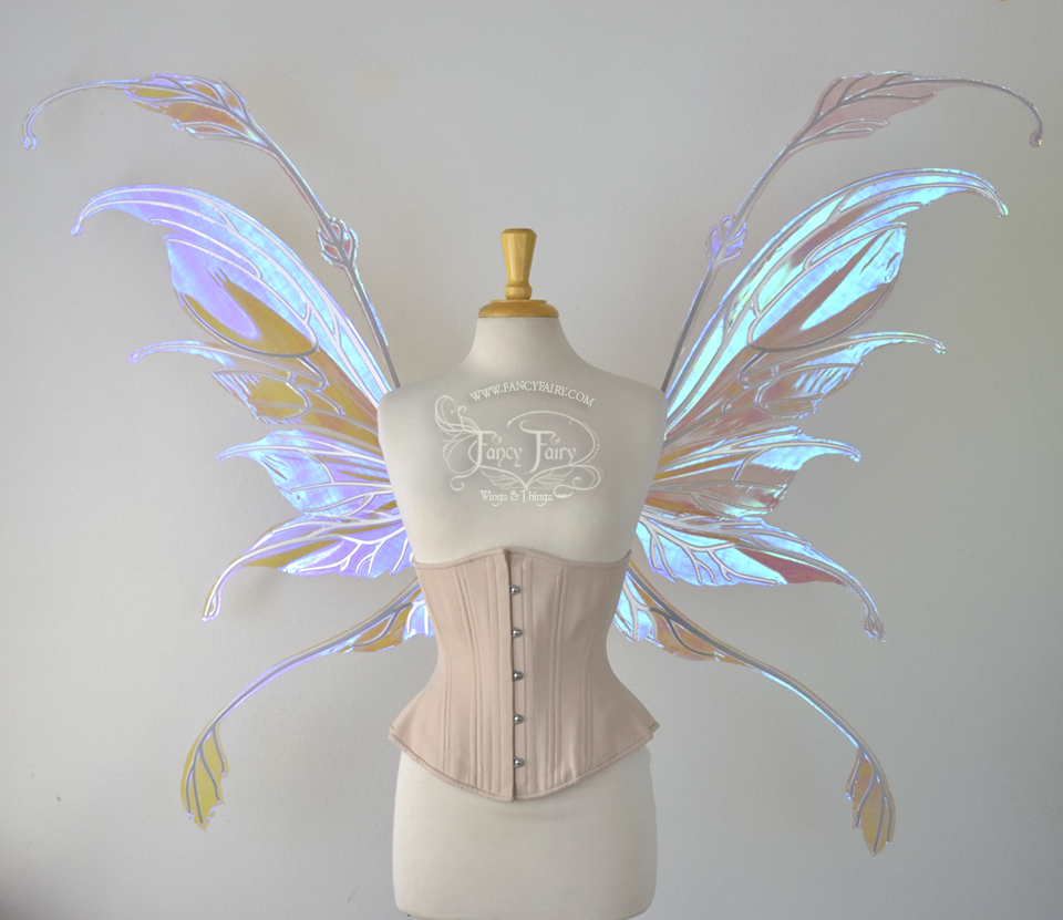 Giant MADE TO ORDER Iridescent Convertible Painted Fairy Wings