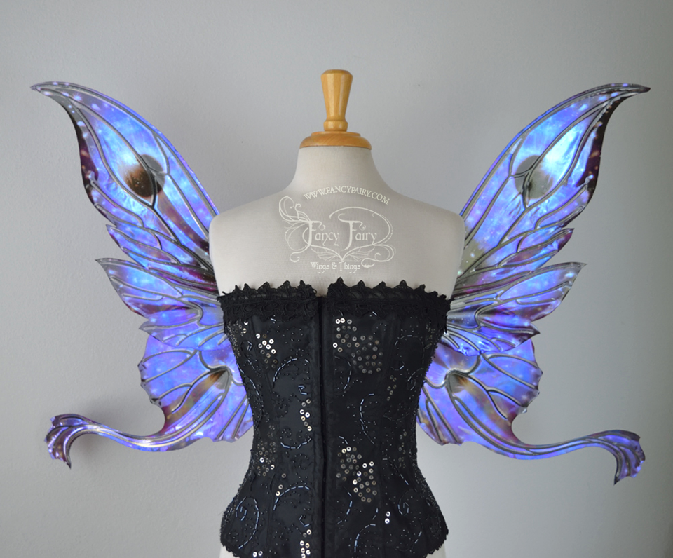 Guinevere Iridescent Fairy Wings in Eclipse