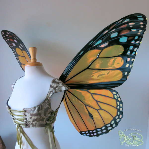 Extra Large / Giant Monarch Butterfly Iridescent Fairy Wings Made to Order