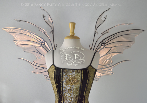Scythe Iridescent Fairy Wings in Antique Copper with Black Veins