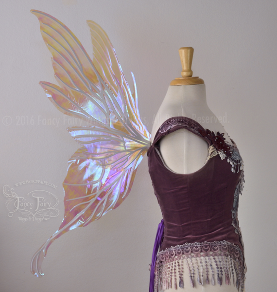 Morgana Iridescent Fairy Wings in Lilac with Pearl veins