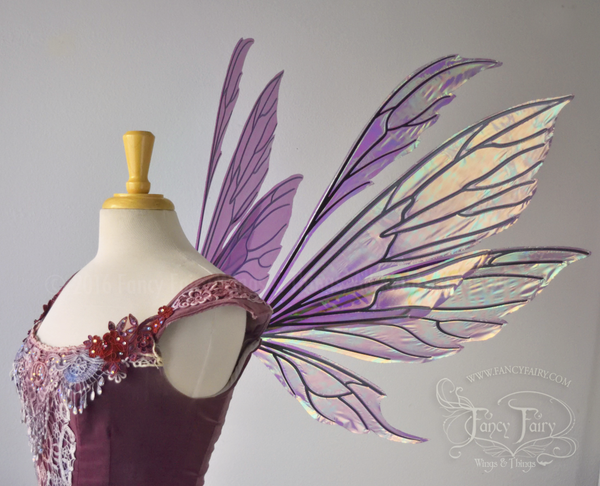 Made to Order Aynia Iridescent Fairy Wings in your choice of color!