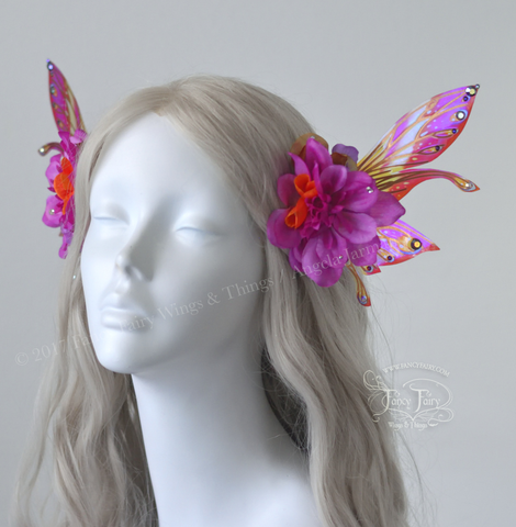 Tropical Flower Fairy Clips with Salome wings