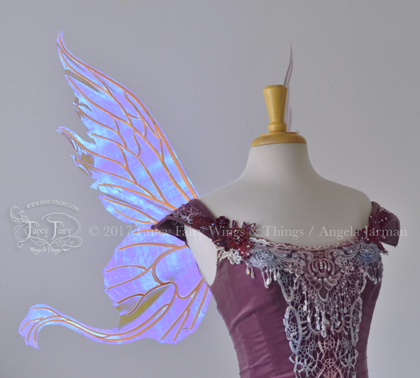 Vivienne / Guinevere Hybrid Iridescent Fairy Wings in Lilac with Copper Veins