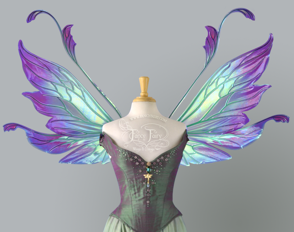 Made to Order Extra Large / Giant Vivienne Iridescent Fairy Wings Painted in Your Colors