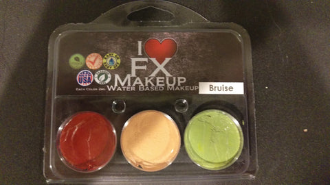 Bruise 3 Color Pack - Water Based Makeup - I Love FX Makeup **CLEARANCE**
