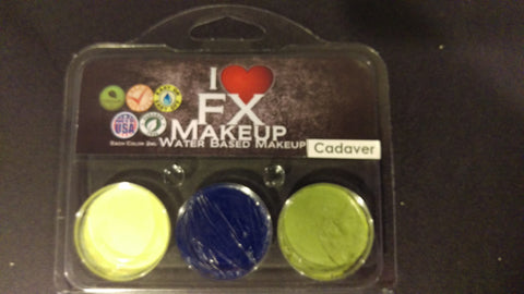 Cadaver 3 Color Pack - Water Based Makeup - I Love FX Makeup **CLEARANCE**