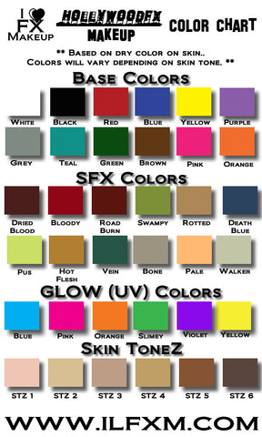 HollywoodFX Airbrush - GLOW Colors