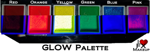 GLOW  (UV Reactive) - HollywoodFX Makeup Palette