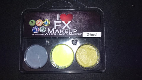 Ghoul 3 Color Pack - Water Based Makeup - I Love FX Makeup **CLEARANCE**