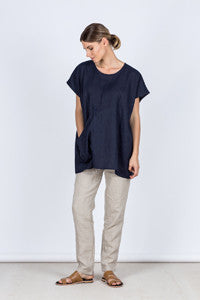 Judy Top Front Kelsey Collective Linen Clothing
