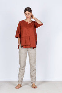Slim Pants Front Kelsey collective linen clothing