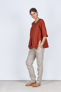 Slim Pants Side Kelsey collective linen clothing