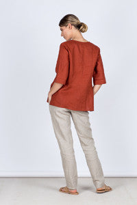 Slim Pants Back Kelsey collective linen clothing