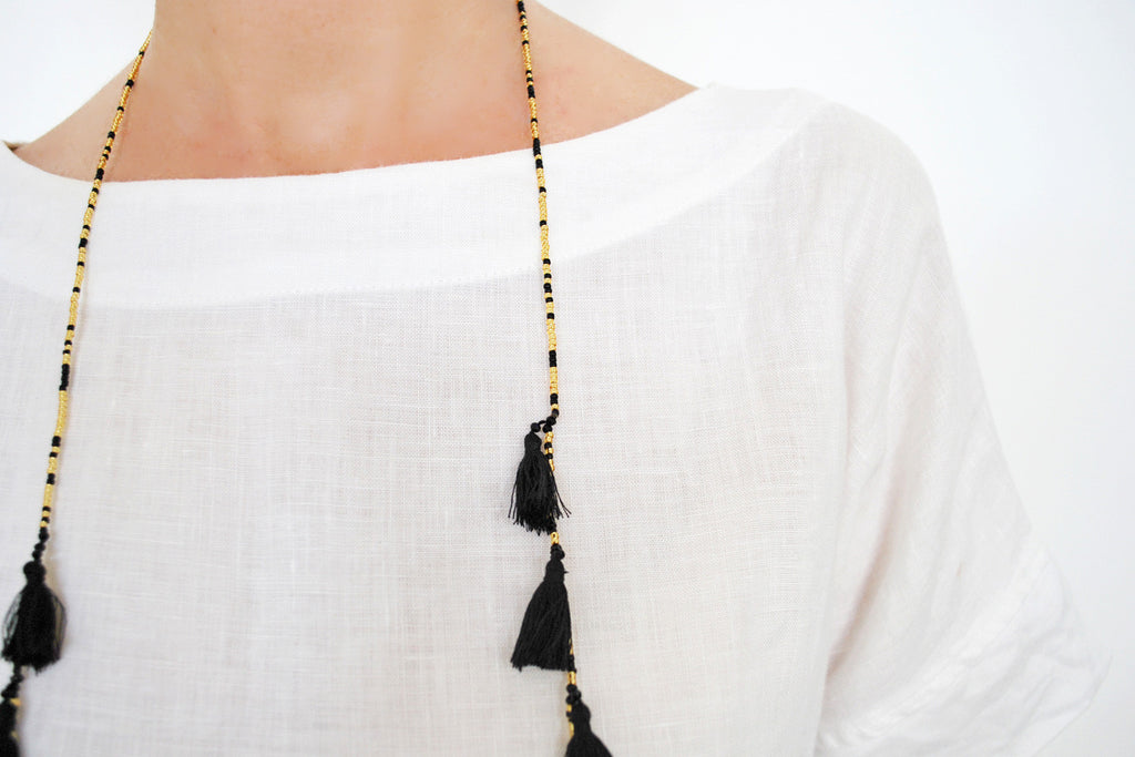 Gold and Black Tassel