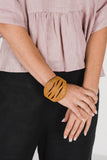 Woven Cane Bangle Dark Natural