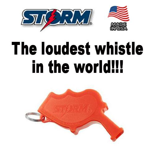 Storm Safety/Survival Whistle - The loudest whistle in the world! Can even be used underwater (Wisel Penyelamat)