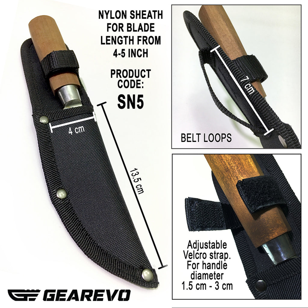 5 inch Knife Sheath Made from Nylon (Sarung Pisau dari Nylon)