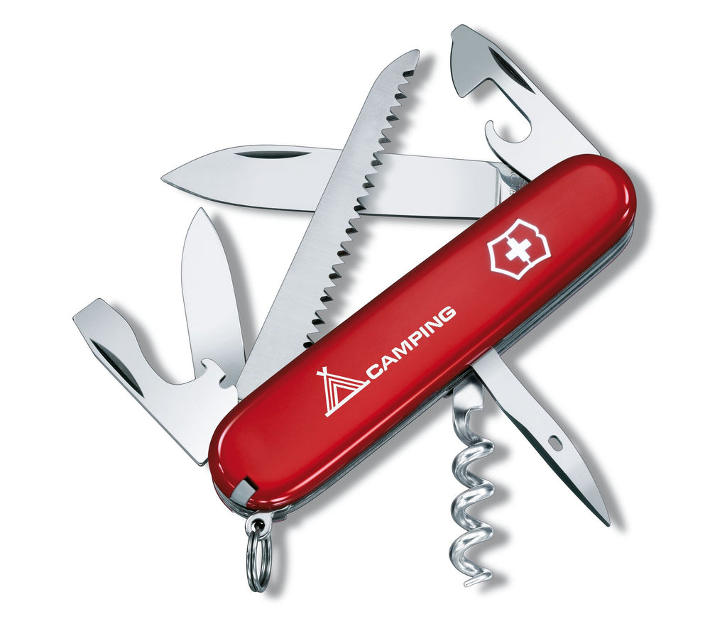 "Victorinox Swiss Army Knife - Camper with hot stamping ""camping"" (1.3613.71B1)"