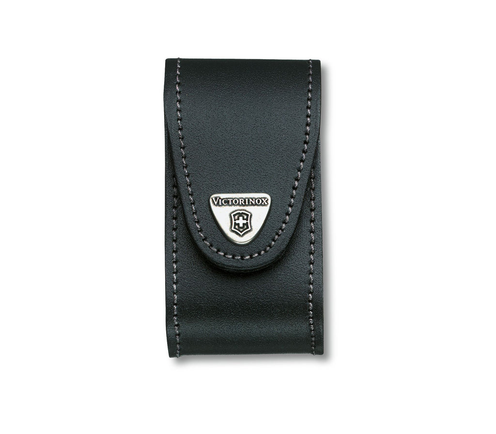 Victorinox Swiss Army Knife Leather Pouch, black, for 91 mm kniives