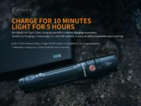 Fenix PD36R USB Type-C Rechargeable Flashlight 1600Lumens with Free Fenix E01 V2.0 Mini Keychain Flashlight 100Lumens (Limited Offer)