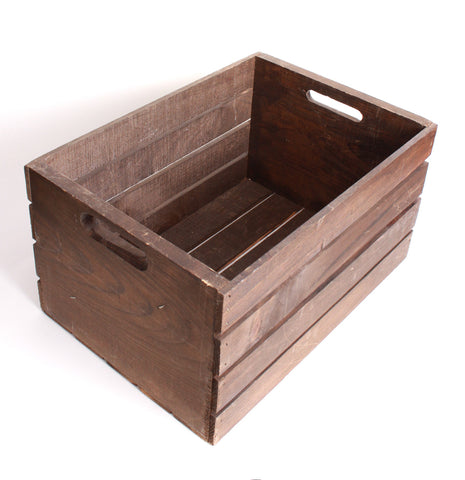 Crate - Dark Stained Wooden
